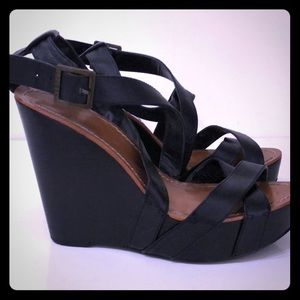 Ralph Lauren Leather Strappy Wedges